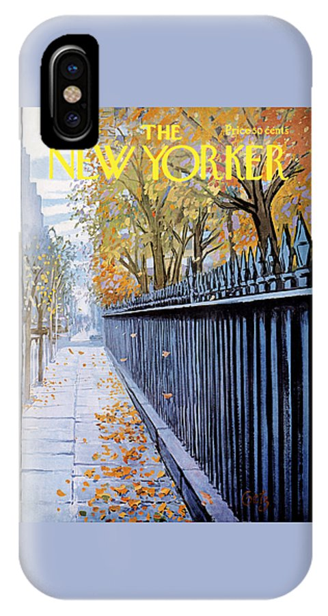 Season IPhone X Case featuring the painting Autumn In New York by Arthur Getz