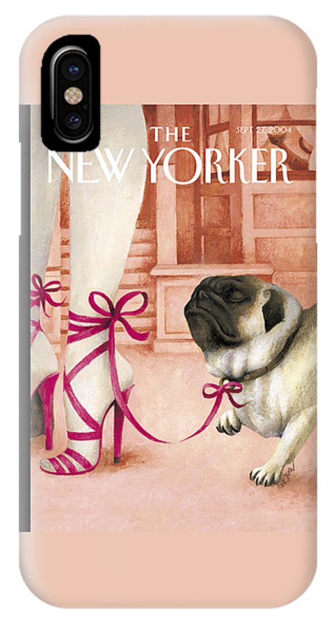 Brought IPhone X Case featuring the photograph The New Yorker Cover - September 27th, 2004 by Ana Juan