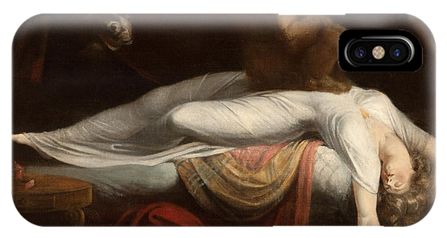 The IPhone X Case featuring the painting The Nightmare by Henry Fuseli
