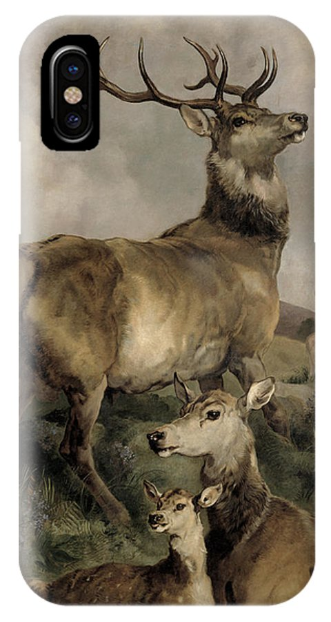 The IPhone X Case featuring the painting The Noble Beast by Sir Edwin Landseer