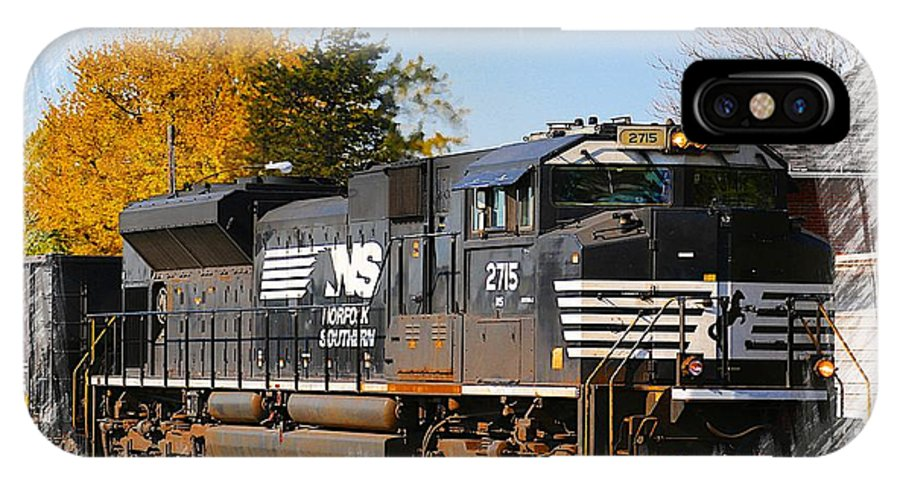 Train IPhone X Case featuring the photograph The Norfolk Southern by Robert Pearson