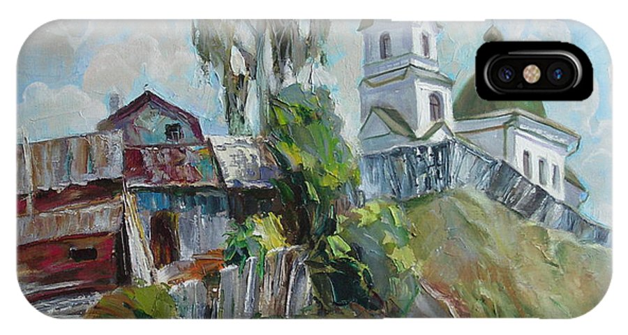 Oil IPhone Case featuring the painting The Old And New by Sergey Ignatenko