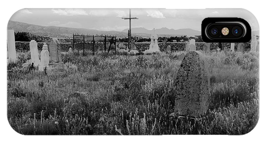 Galisteo New Mexico IPhone X Case featuring the photograph The Old Cemetery At Galisteo by David Lee Thompson
