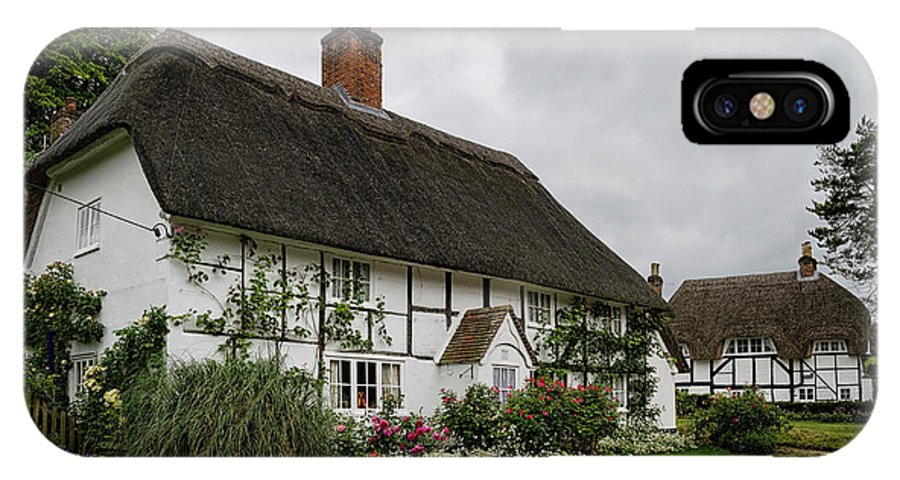 Cottage IPhone X Case featuring the photograph The Old Cottage Micheldever by Shirley Mitchell