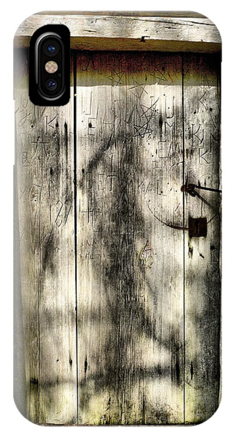 Lehtokukka IPhone X / XS Case featuring the photograph The Old Door by Jouko Lehto