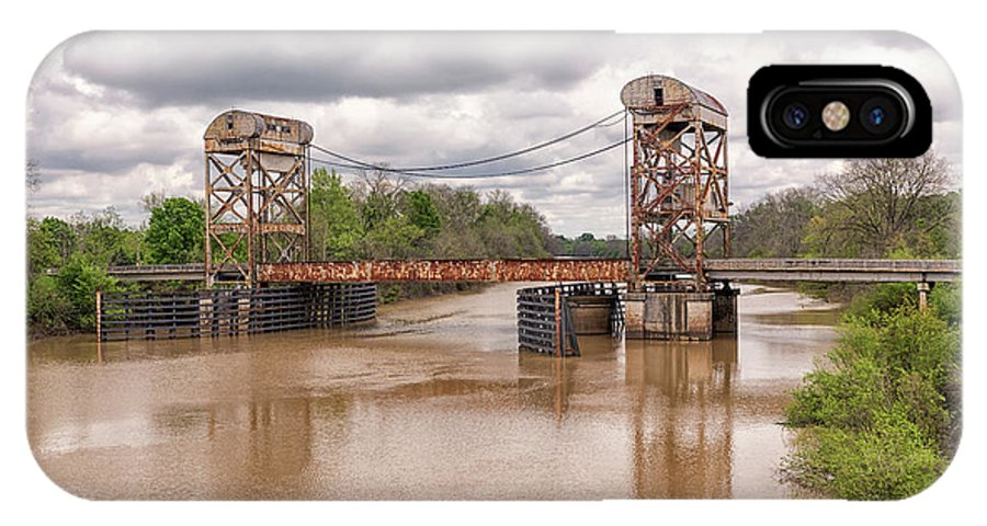 Clayton Louisiana IPhone X Case featuring the photograph The Old Lift Bridge by Victor Culpepper