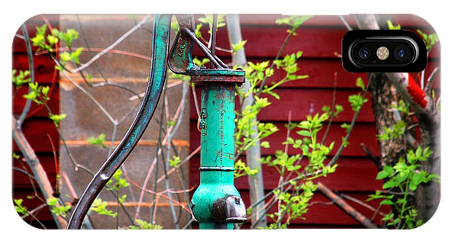 Photography IPhone X Case featuring the photograph The Old Rusty Water Pump by Susanne Van Hulst