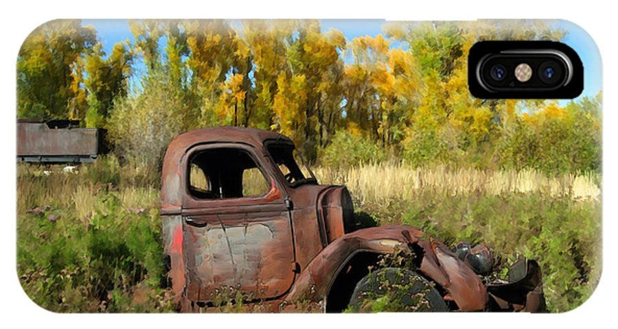 Truck IPhone X Case featuring the photograph The Old Truck Chama New Mexico by Kurt Van Wagner