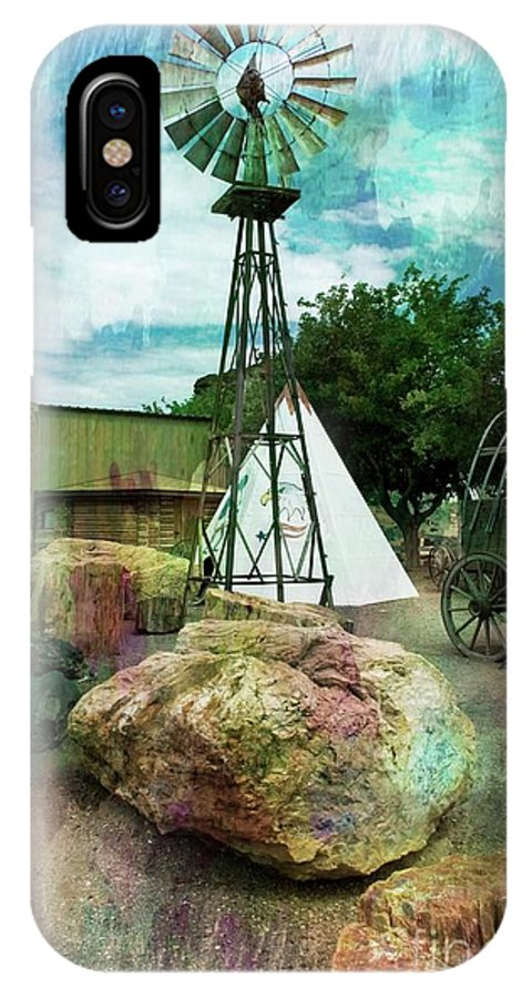 Old West IPhone X Case featuring the mixed media The Old West by Bob Pardue