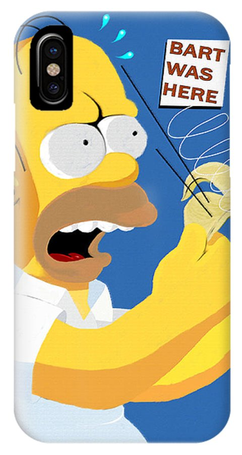 Tv Shows IPhone X Case featuring the digital art The Oldest Trick In The Book by Saad Hasnain