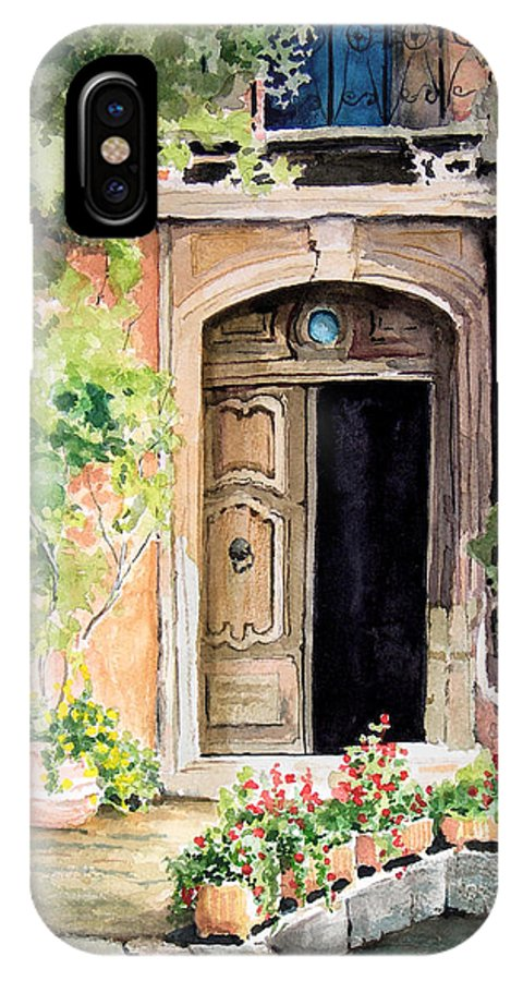 Door IPhone X Case featuring the painting The Open Door by Sam Sidders