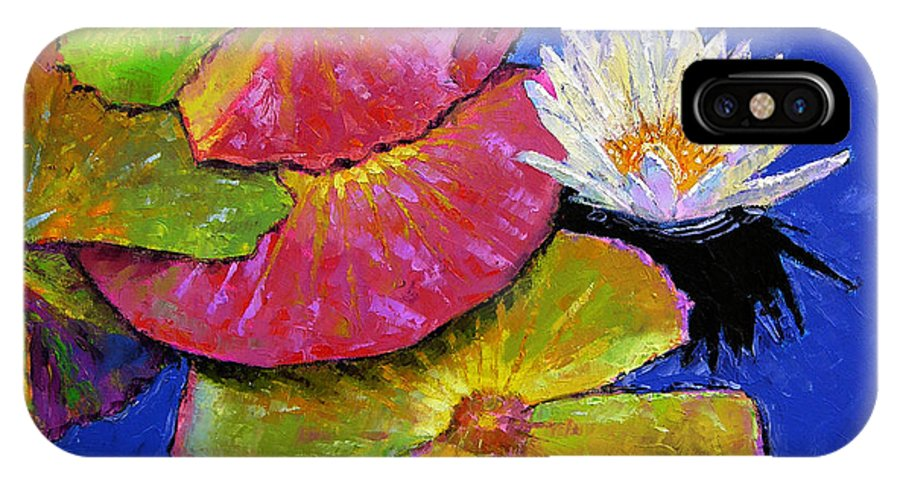 Water Lily IPhone Case featuring the painting The Palletes Of Fall by John Lautermilch
