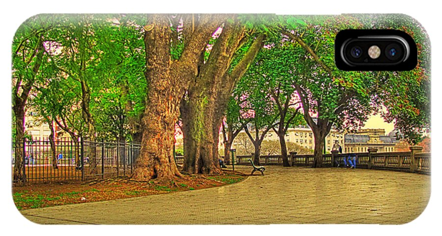 Trees IPhone X Case featuring the photograph The Park by Francisco Colon