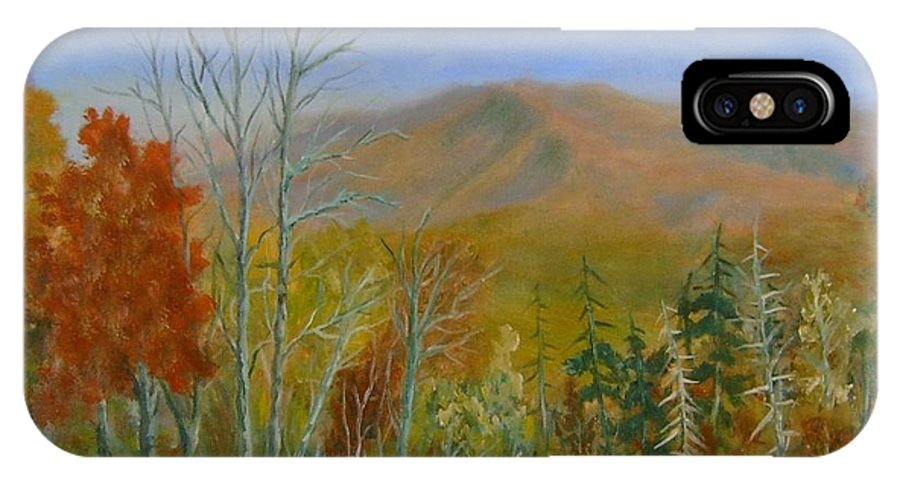 Mountains; Trees; Fall Colors IPhone X Case featuring the painting The Parkway View by Ben Kiger