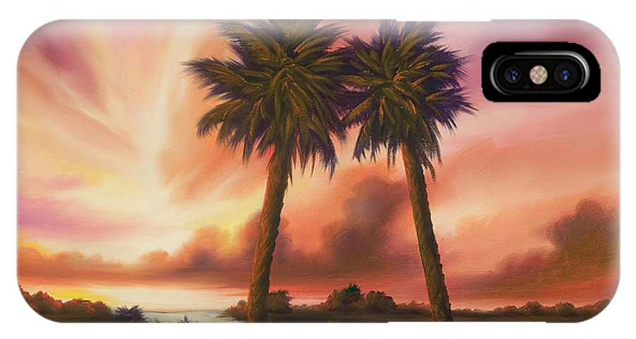 Skyscape IPhone X Case featuring the painting The Path Ahead by James Christopher Hill