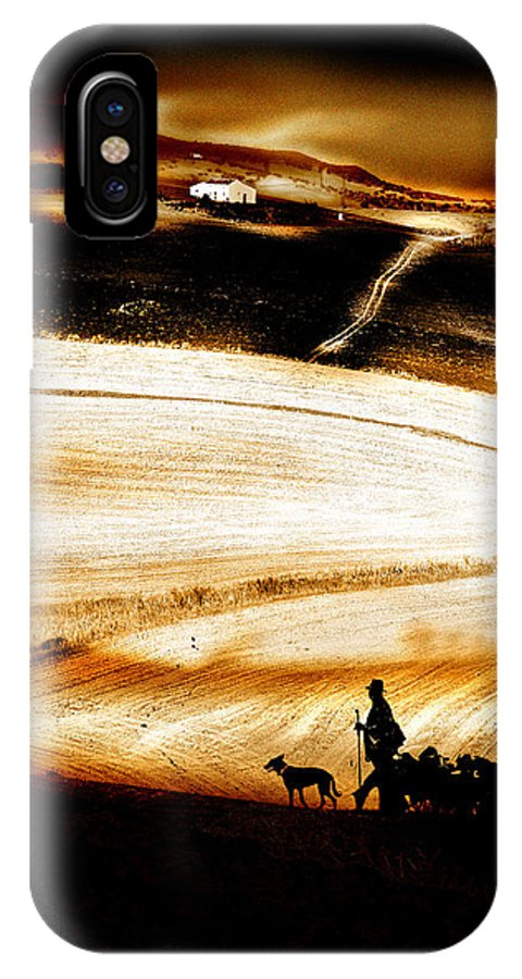 Landscape IPhone X Case featuring the photograph The Path Home by Mal Bray
