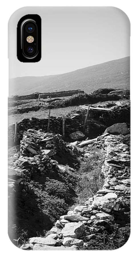 Irish IPhone Case featuring the photograph The Path To The Beehive Huts In Fahan Ireland by Teresa Mucha