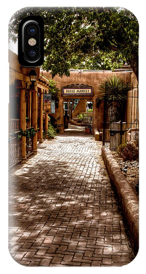 New Mexico IPhone X Case featuring the photograph The Patio Market by David Patterson
