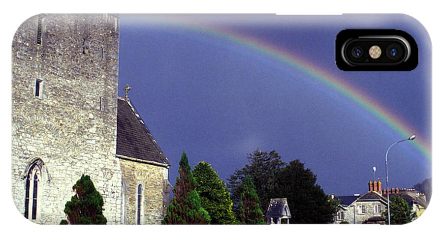 Rain IPhone X Case featuring the photograph The Perfect Rainbow by Carl Purcell