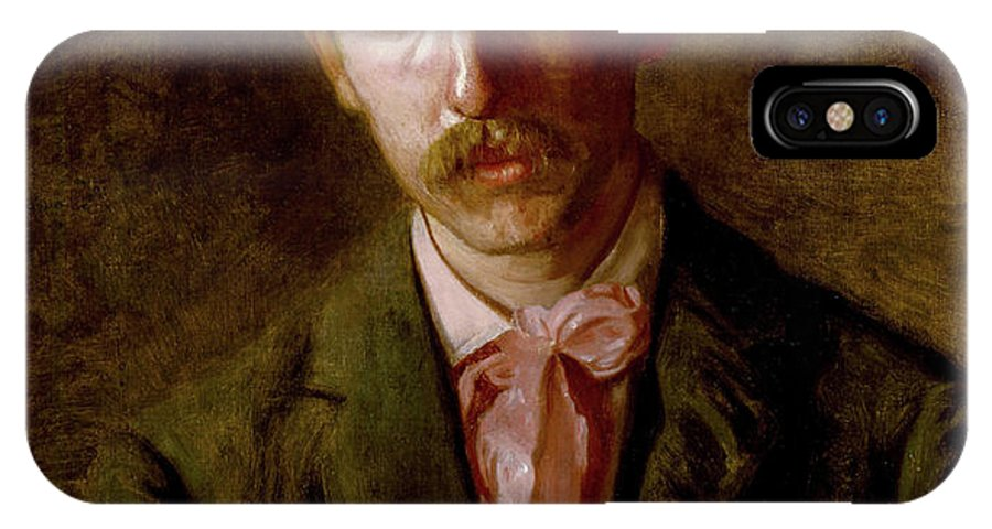 America IPhone X Case featuring the painting The Pianist, Stanley Addicks by Thomas Eakins