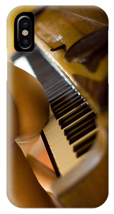 Sensual IPhone X Case featuring the photograph The piano by Olivier De Rycke