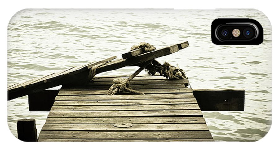 Pier IPhone X Case featuring the photograph An Old Pier by Melina Macedo