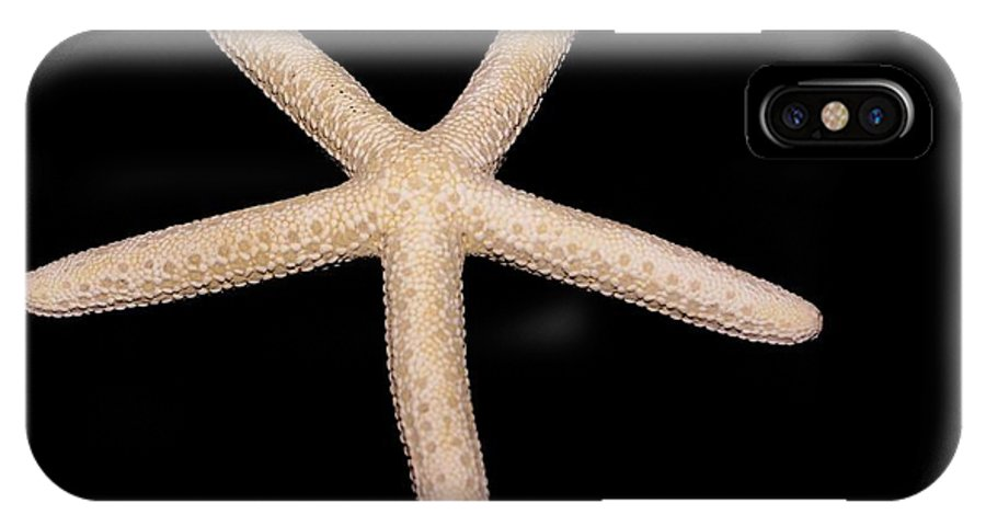 Star IPhone X Case featuring the photograph The Pink Star by Debbie May
