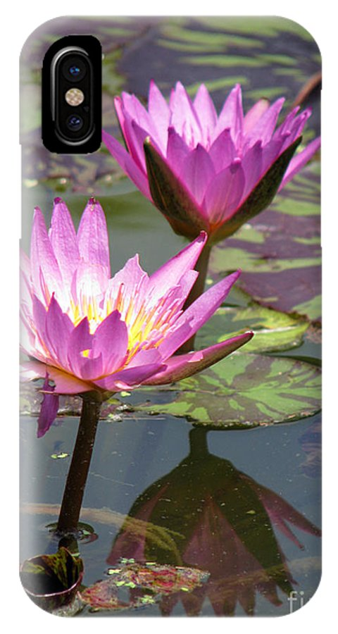 Lillypad IPhone X Case featuring the photograph The pond by Amanda Barcon