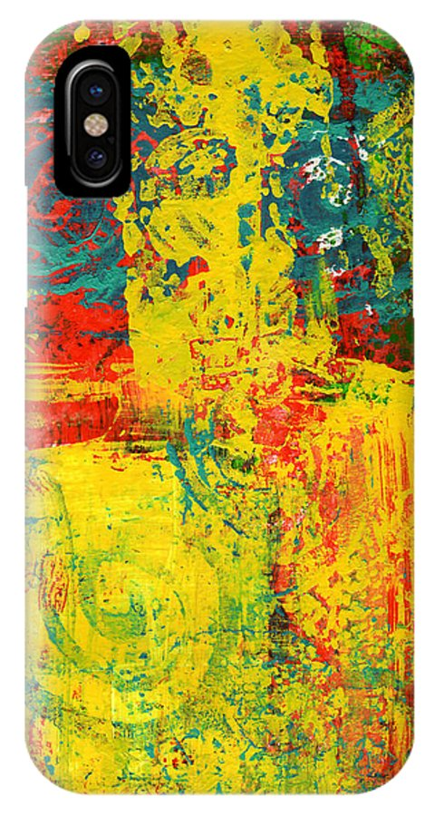 Abstract IPhone X Case featuring the painting The Power Within by Wayne Potrafka