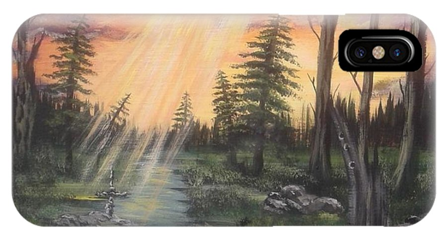 Paradise IPhone X Case featuring the painting The Promise by Lori Lafevers