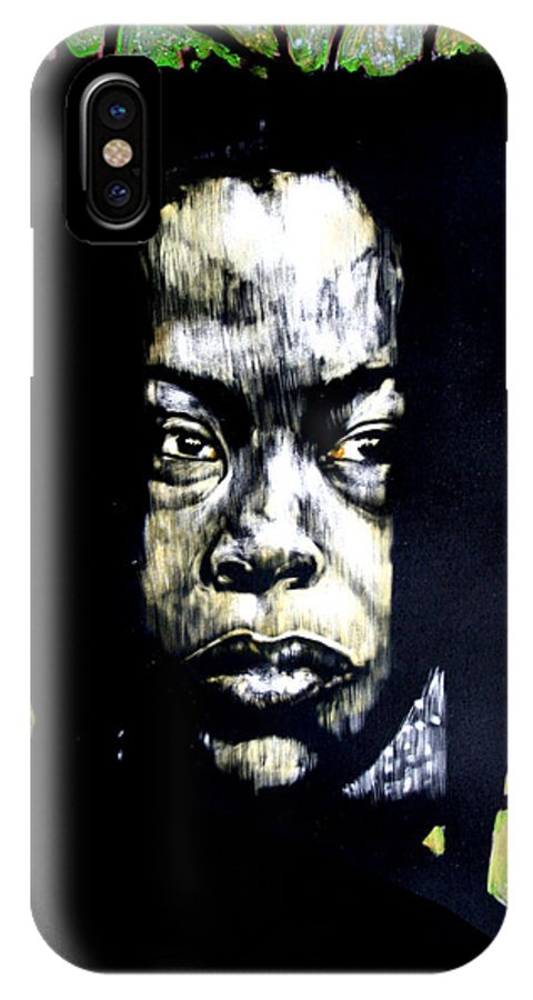 Portraits IPhone X Case featuring the mixed media The Promise Of Spring by Chester Elmore