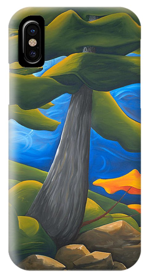 Landscape IPhone X Case featuring the painting The Protectors by Richard Hoedl