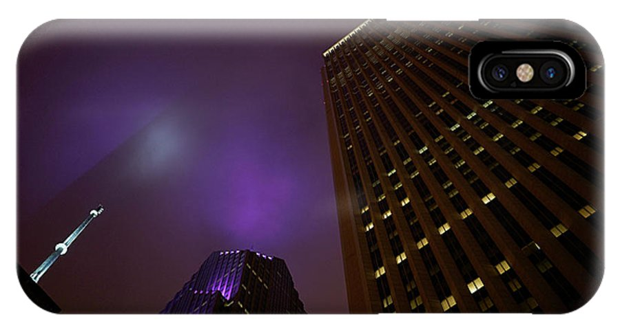 Chicago IPhone X Case featuring the photograph The Purple Fog by Brian Bartz