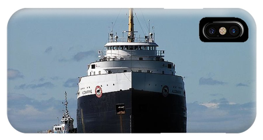 Tug Boat IPhone X Case featuring the photograph The Push by Andy Klamar