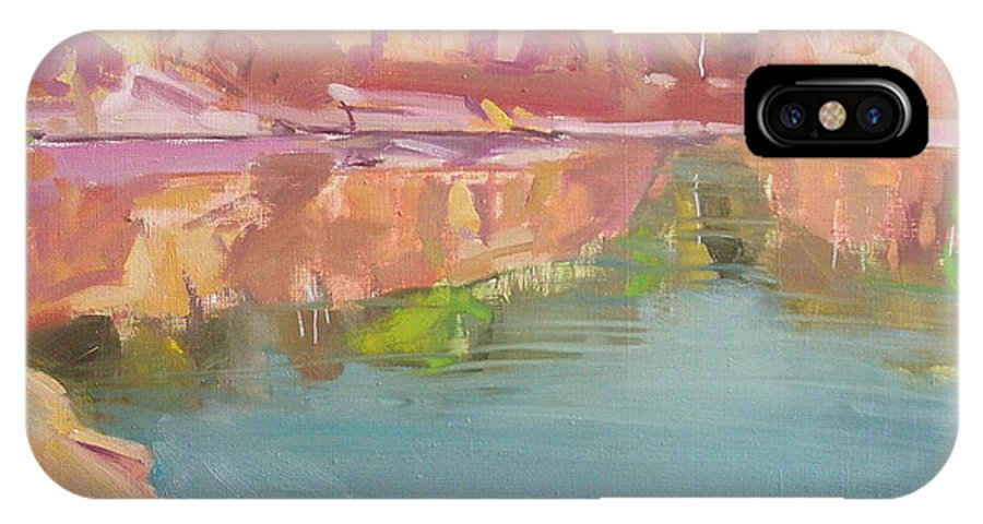 Oil IPhone X / XS Case featuring the painting The Quarry by Sergey Ignatenko