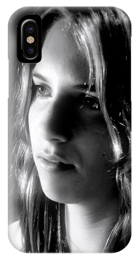 Young Woman IPhone X Case featuring the photograph The Question by RC DeWinter