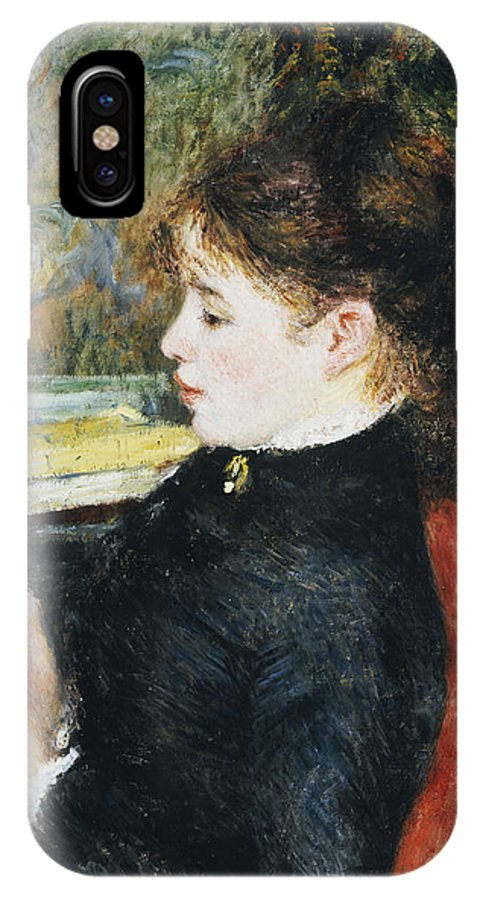 Impressionist; Impressionism; Portrait; Female; Seated; Sitting; Reading; Chair; Book IPhone X Case featuring the painting The Reader by Pierre Auguste Renoir