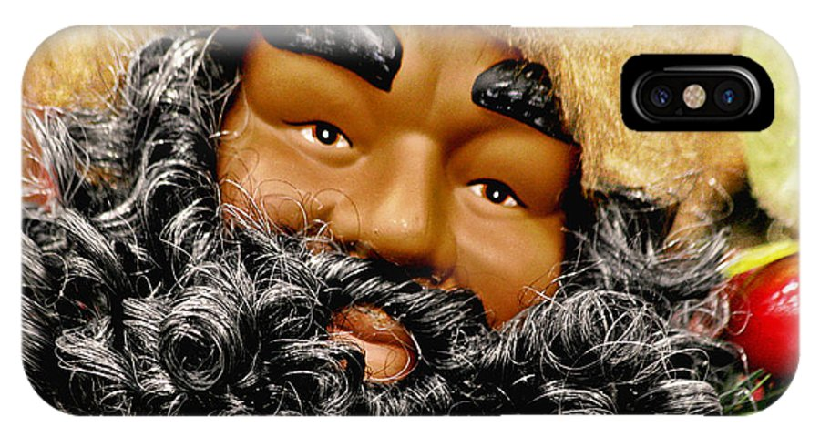 St IPhone X Case featuring the photograph The Real Black Santa by Christine Till