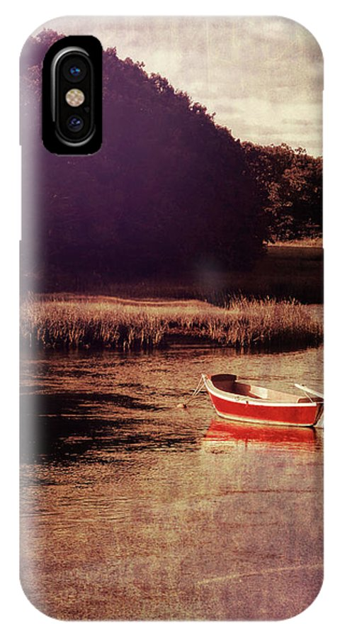 Boat IPhone X Case featuring the photograph The Red Boat by JAMART Photography