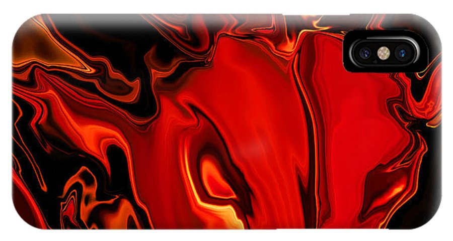 Animals IPhone Case featuring the digital art The Red Bull by Rabi Khan