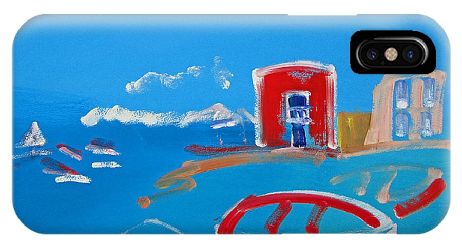 Puerto IPhone X Case featuring the painting The Red House La Casa Roja by Charles Stuart