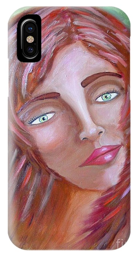 Redheads IPhone Case featuring the painting The Redhead by Laurie Morgan