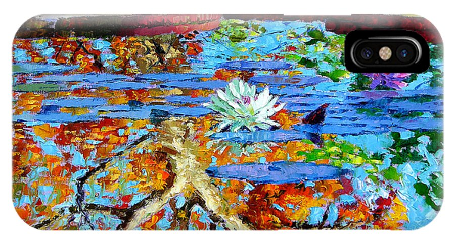 Fall IPhone X Case featuring the painting The Reflections Of Fall by John Lautermilch
