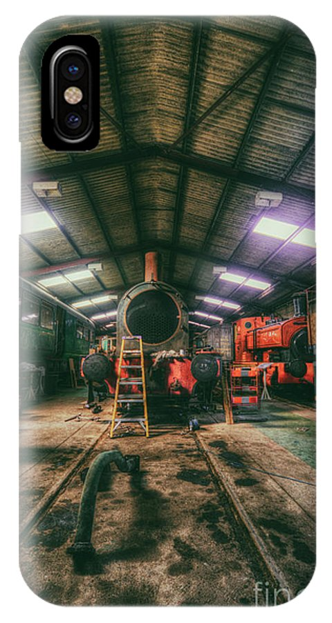 East IPhone X / XS Case featuring the digital art The Restoration Shed by Nigel Bangert