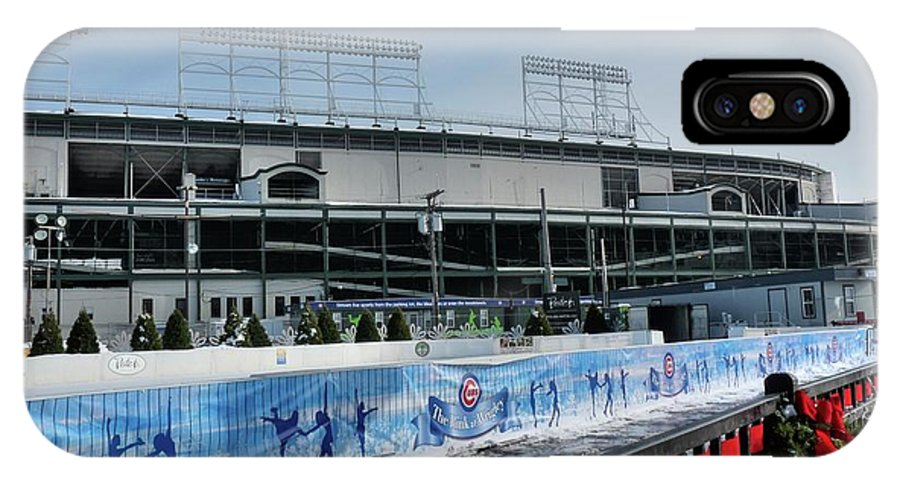 Skating Rink IPhone X Case featuring the photograph The Rink At Wrigley by David Bearden