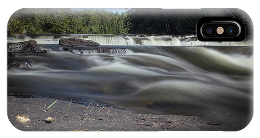 Waterfall IPhone X Case featuring the photograph The River - Furnace Falls - Burnt River by Spencer Bush