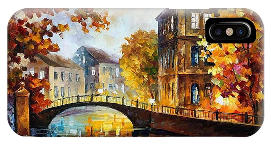 Afremov IPhone X Case featuring the painting The River Of Memories by Leonid Afremov