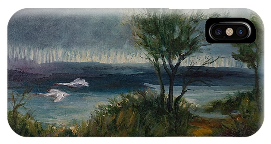 Water IPhone X Case featuring the painting The River by Rick Nederlof
