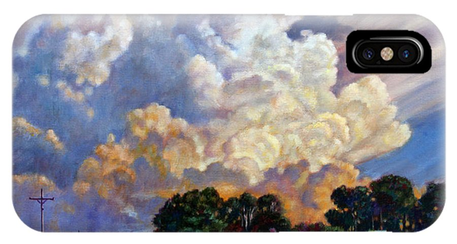 Landscape IPhone Case featuring the painting The Road Home by John Lautermilch