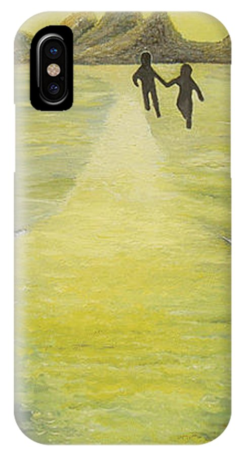Soul IPhone X Case featuring the painting The Road In The Ocean Of Light by Karina Ishkhanova